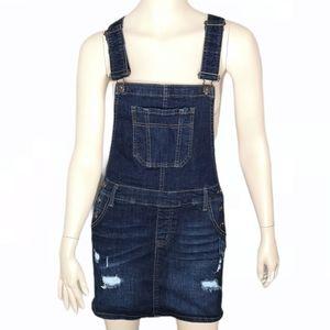 Wax Jean Denim Overall JeanMini Skirt Distressed